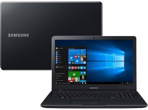 """Conheça o Notebook Samsung Expert X23 NP300E5K-XW1BR com processador Intel Core i5 (5200U) de 2.2 GHz a 2.7 GHz e 3 MB cache, 8GB de memória RAM, HD de 1 TB (5.400 RPM), Tela LED HD de 15,6"""" com resolução máxima de 1366 x 768, Placa de Vídeo integrada Intel HD Graphics 5500 e Geforce 910M com 2GB de memória dedicada (DDR3L), Conexões USB e HDMI, Wi-Fi 802.11 b/g/n, Não possui Drive de DVD, Bateria de 3 células (43WHr), Peso aproximado de 1,9kg e Windows 10."""