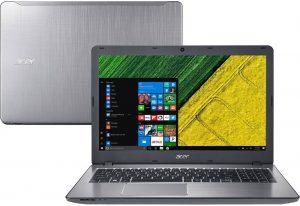 """Conheça o Notebook Acer Aspire F5-573G-519X com processador Intel Core i5 (7200U) de 2.5 GHz a 3.1 GHz e 3 MB cache, 8 GB de memória RAM (DDR4 - 2133 MHz expansível até 16GB), HD de 2 TB (5.400 RPM), Tela LED HD de 15,6"""" com resolução máxima de 1366 X 768, Placa de Vídeo Geforce 940MX com 2 GB de memória dedicada(GDDR5), Conexões USB e HDMI, Wi-Fi 802.11bgn, Drive de DVD, Bateria de 4 células (2800mAh), Peso aproximado de 2,3kg e Windows 10."""