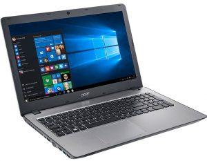 """Conheça o Notebook Acer Aspire F5-573G-74DT NX.GJTAL.004 com processador Intel Core i7 (7500U) de 2.7 GHz a 3.5 GHz e 4 MB cache, 16 GB de memória RAM (DDR4 2133 MHz - expansível até 32GB), HD de 2TB (5.400 RPM), Tela LED HD de 15,6"""" com resolução máxima de 1366 X 768, Placa de Vídeo integrada Intel HD Graphics 620 + Geforce 940MX com 4GB de memória dedicada (DDR5), Conexões USB e HDMI, Wi-Fi 802.11 b/g/n, Drive de DVD, Bateria de 4 células (2800 mAh), Peso aproximado de 2,3kg e Windows 10."""
