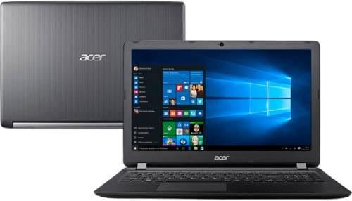 """Conheça o Notebook Acer Aspire A515-51-51UX com processador Intel Core i5 (7200U) de 2.5 GHz a 3.1 GHz e 3 MB cache, 8GB de memória RAM (2 x 4GB tipo DDR4 - 2133 MHz expansível até 20GB), HD de 1 TB (5.400 RPM), Tela LED HD de 15,6"""" com resolução máxima de 1366 x 768, Placa de Vídeo integrada Intel HD Graphics 620, Placa Conexões USB e HDMI, Wi-Fi 802.11 b/g/n/ac, Não possui Drive de DVD, WebCAM com HDR e resolução de 1280 x 720, Bateria de 4 células (3220 mAh), Peso aproximado de 2,2kg e Windows 10."""