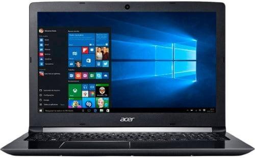 """Conheça o Notebook Acer Aspire A515-51G-72DB NX.GQEAL.001 com processador Intel Core i7 (7500U) de 2 GHz a 3.5 GHz e 4MB cache, 8GB de memória RAM (4GB soldado + 4GB DDR4 2133MHz - expansível até 20GB), HD de 1 TB (5.400 RPM), Tela LED Full HD de 15,6"""" Antirreflexo e resolução máxima de 1920 x 1080, Placa de Vídeo integrada Intel HD Graphics 620 e NVIDIA Geforce 940MX com 2GB de memória dedicada (GDDR5), Conexões USB e HDMI, Wi-Fi 802.11 ac, Não possui Drive de DVD, Bateria de 4 células (3220 mAh), Peso aproximado de 2,2kg e Windows 10."""