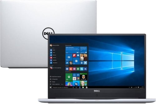 """Conheça o Notebook Dell Inspiron I15-7572-A30S com processador Intel Core i7 (8550U) de 1.8 GHz a 4 GHz e 8MB cache, 8GB de memória RAM (DDR4 2400MHz - expansível até 16GB), SSD de 128 GB + HD de 1TB (5.400RPM), Tela LED FULL HD de 15,6"""" e resolução máxima de 1920 x 1080, Placa de Vídeo integrada Intel UHD Graphics 620 e Geforce MX150 com 4GB de memória dedicada (GDDR5), Conexões USB e HDMI, Wi-Fi 802.11 ac, Não possui Drive de DVD, Bateria de 3 células (42Wh), Peso aproximado de 2kg e Windows 10."""