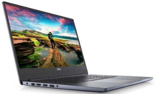 """Conheça o Notebook Dell Inspiron Ultrafino i15-7572-M10C com processador Intel Core i5 (8250U) de 1.6 GHz a 3.4 GHz e 6MB cache, 8GB de memória RAM (DDR4 2400MHz - 1x8GB), HD de 1 TB (5.400 RPM), Tela LED FULL HD de 15,6"""" com painel IPS, TrueLife e resolução máxima de 1366 x 768, Placa de Vídeo integrada Intel UHD Graphics 620 e NVIDIA Geforce MX150 com 4GB de memória dedicada (GDDR5), Conexões USB e HDMI, Wi-Fi 802.11 ac, Não possui Drive de DVD, Teclado retroiluminado, Bateria de 3 células (42Wh), Peso aproximado de 2kg e Windows 10."""