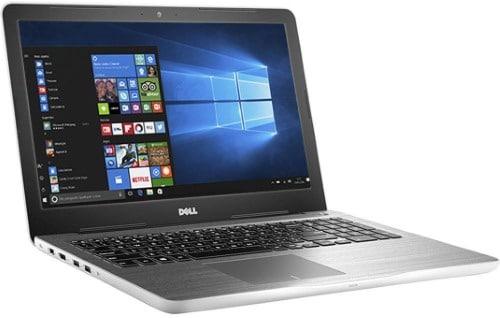 """Conheça o Notebook Dell Inspiron i15-5567-A40B com processador Intel Core i7 (7500U) de 2.7 GHz a 3.5 GHz e 4MB cache, 8GB de memória RAM (DDR4 2133MHz), HD de 1 TB (5.400 RPM), Tela LED HD de 15,6"""" com TrueLife e resolução máxima de 1366 x 768, Placa de Vídeo integrada Intel HD Graphics 620 e AMD Radeon R7 M445 com 4GB de memória dedicada (GDDR5), Conexões USB e HDMI, Wi-Fi 802.11 b/g/n/ac, Não possui Drive de DVD, Bateria de 3 células (40Wh), Peso aproximado de 2,3kg e Windows 10."""