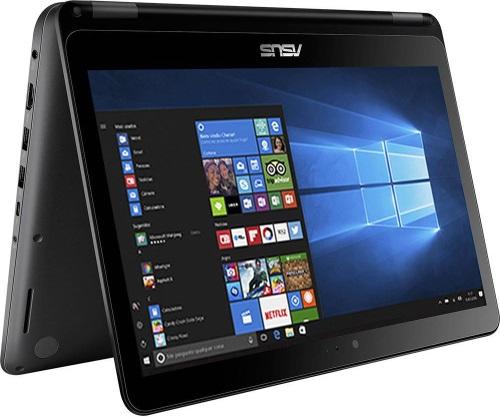 """Conheça o Notebook 2 em 1 ASUS Vivobook Flip TP301UA-DW254T com processador Intel Core i5 (6200U) de 2.3 GHz a 2.8 GHz e 3MB cache, 6GB de memória RAM (DDR3L 1600MHz - 2 GB Onboard + 4 GB Offboard), HD de 1 TB (5.400 RPM), Tela HD de 13,3"""" touch com resolução máxima de 1366 x 768, Placa de Vídeo integrada Intel HD Graphics 520, Conexões USB e HDMI, Wi-Fi 802.11 b/g/n/ac, Não possui Drive de DVD, Bateria de 3 células (3000mAh), Peso aproximado de 1,7kg e Windows 10 64 bits."""