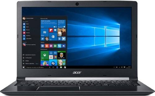 """Conheça o Notebook Acer Aspire A515-51G-C690 com processador Intel Core i7 (8550U) de 1.8 GHz a 4 GHz e 8MB cache, 8GB de memória RAM (DDR4 - Expansível até 20GB), HD de 1 TB (5.400 RPM), Tela LED HD de 15,6"""" com resolução máxima de 1366 x 768, Placa de Vídeo integrada Intel UHD Graphics 620 e NVIDIA Geforce MX130 com 2GB de memória dedicada (GDDR5), Conexões USB e HDMI, Webcam (1280x720) Wi-Fi 802.11 b/g/n/ac, Não possui Drive de DVD, Bateria de 4 células (3220mAh), Peso aproximado de 2,2kg e Windows 10 64 bits."""