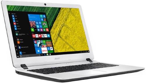 """Conheça o Notebook Acer Aspire ES1-572-347R NX.GMHAL.001 com processador Intel Core i3 (6006U) de 2 GHz e 3 MB cache, 4GB de memória RAM (DDR 2133 MHz), HD de 500GB (5.400 RPM), Tela LED HD de 15,6"""" antirreflexiva com resolução máxima de 1366 X 768, Placa de Vídeo integrada Intel HD Graphics 520, Conexões USB e HDMI, Wi-Fi 802.11 b/g/n, Não possui Drive de DVD, Bateria de 4 células(3220mAh), Peso aproximado de 2,4kg e Sistema Operacional Windows 10 64 bits."""