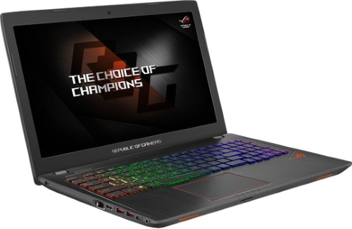 """Conheça o Notebook Asus Gamer Rog Strix GL553VE-FY156T com processador Intel Core i7 (7700HQ) de 2.8 GHz a 3.8 GHz e 6 MB cache Quad Core, 16GB de memória RAM (DDR4 2400 MHz), SSD de 128GB e HD de 1 TB (5.400 RPM), Tela LED FULLHD de 15,6"""" com resolução máxima de 1920 x 1080, Placa de Vídeo integrada Intel HD Graphics 630 e Geforce GTX 1050Ti com 4GB de memória dedicada (GDDR5), Conexões USB e HDMI, Wi-Fi 802.11 b/g/n, Drive de DVD, Bateria de 4 células (48Whrs), Teclado Retroiluminado, Peso aproximado de 2,5kg e Windows 10."""