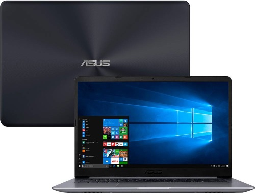 """Conheça o Notebook Asus Vivobook X510UA-BR539T com processador Intel Core i5 (7200U) de 2.5 GHz a 3.1 GHz e 4MB cache, 4GB de memória RAM (DDR4 2133MHz - 0 GB Onboard + 4 GB Offboard - expansível até 16GB), HD de 1 TB (5.400 RPM), Tela LED HD de 15,6"""" resolução máxima de 1366 x 768, Placa de Vídeo integrada Intel HD Graphics 620, Conexões USB e HDMI, Wi-Fi 802.11 b/g/n/ac, Não possui Drive de DVD, Bateria de 3 células (4000 mAh), Peso aproximado de 1,7kg e Windows 10 64 bits."""