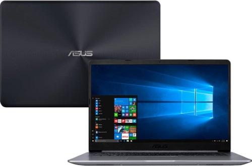 """Conheça o Notebook Asus Vivobook X510UA-BR667T com processador Intel Core i5 (8250U) de 1.6 GHz a 3.4 GHz e 6 MB cache, 8GB de memória RAM (DDR4 2133 MHz - expansível até 16GB), HD de 1 TB (5.400 RPM), Tela LED HD de 15,6"""" e resolução máxima de 1366 x 768, Placa de Vídeo integrada Intel UHD Graphics 620, Conexões USB e HDMI, Wi-Fi 802.11 b/g/n/ac, Não possui Drive de DVD, Bateria de 3 células (4000 mAh), Peso aproximado de 1,7kg e Windows 10 64 bits."""