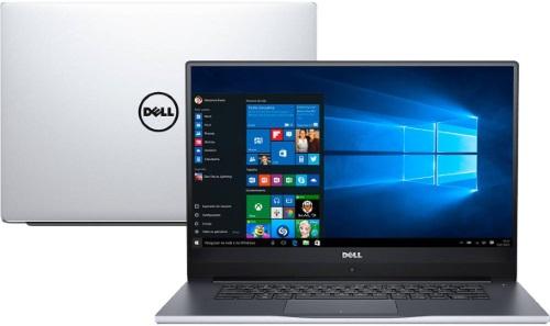 """Conheça o Notebook Dell Inspiron I14-7472-A20S com processador Intel Core i7 (8550U) de 1.8 GHz a 4 GHz e 8MB cache, 8GB de memória RAM (DDR4 2400 MHz), HD de 1 TB (5.400 RPM), Tela FULL HD de 14"""" IPS com Truelife e resolução máxima de 1920 x 1080, Placa de Vídeo integrada Intel UHD Graphics 620 e NVIDIA Geforce MX150 com 4GB de memória dedicada (GDDR5), Conexões USB e HDMI, Wi-Fi 802.11 ac, Não possui Drive de DVD, Teclado retroiluminado, Bateria de 3 células (42Wh), Peso aproximado de 1,6kg e Windows 10 64 bits."""