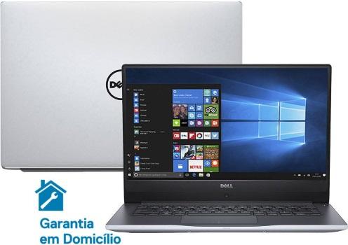 """Conheça o Notebook Dell Inspiron i14-7460-A30S com processador Intel Core i7 (7500UU) de 2.7 GHz a 3.5 GHz e 4MB cache, 16GB de memória RAM (DDR4 2133 MHz), HD de 1 TB (5.400 RPM), Tela FULL HD IPS de 14"""" com Truelife e resolução máxima de 1920 x 1080, Placa de Vídeo integrada Intel HD Graphics 620 e NVIDIA Geforce 940MX com 4GB de memória dedicada (GDDR5), Conexões USB e HDMI, Webcam (720p) Wi-Fi 802.11 b/g/n, Não possui Drive de DVD, Bateria de 3 células (40WHr), Peso aproximado de 1,6kg e Windows 10 64 bits."""