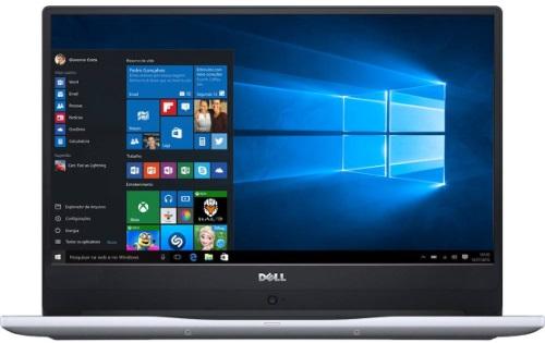 """Conheça o Notebook Dell Inspiron i14-7472-A10S com processador Intel Core i5 (8250U) de 1.6 GHz a 3.4 GHz e 6MB cache, 8GB de memória RAM (DDR4 2133 MHz - expansível até 32GB), HD de 1 TB (5.400 RPM), Tela FULL HD de 14"""" IPS com Truelife e resolução máxima de 1920 x 1080, Placa de Vídeo integrada Intel UHD Graphics 620 e NVIDIA Geforce MX150 com 4GB de memória dedicada (GDDR5), Conexões USB e HDMI, Wi-Fi 802.11 ac, Webcam (720p), Não possui Drive de DVD, Teclado retroiluminado, Bateria de 3 células (42Wh), Peso aproximado de 1,6kg e Windows 10."""