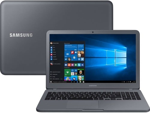 """O Notebook Samsung Expert X50 NP350XAA-XF3BR possui processador Intel Core i7 (8550U) de 1.8 GHz a 4 GHz e 8MB cache, 8GB de memória RAM (DDR4 2133 MHz), HD de 1 TB (5.400 RPM), Tela LED FULL HD de 15,6"""" antirreflexiva com resolução máxima de 1920 x 1080, Placa de Vídeo integrada Intel UHD Graphics 620 e NVIDIA Geforce MX110 com 2GB de memória dedicada (GDDR5), Conexões USB e HDMI, Webcam (1280x720) Wi-Fi 802.11 b/g/n/ac, Não possui Drive de DVD, Bateria de 3 células (43Wh), Peso aproximado de 1,95kg e Windows 10 64 bits."""