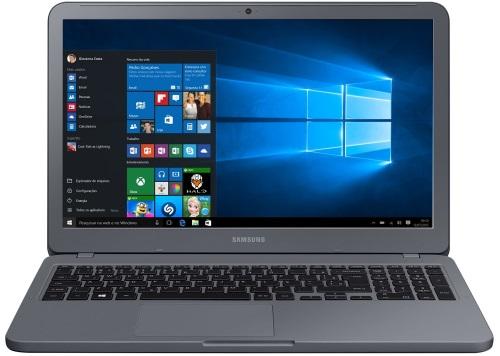 """Conheça o Notebook Samsung Expert X55 NP350XAA-XF4BR com processador Intel Core i7 (8550U) de 1.8 GHz a 4 GHz e 8MB cache, 12GB de memória RAM (DDR4 2133 MHz), HD de 1 TB (5.400 RPM), Tela LED FULL HD de 15,6"""" antirreflexiva com resolução máxima de 1920 x 1080, Placa de Vídeo integrada Intel UHD Graphics 620 e NVIDIA Geforce MX110 com 2GB de memória dedicada (GDDR5), Conexões USB e HDMI, Webcam (1280x720) Wi-Fi 802.11 b/g/n/ac, Não possui Drive de DVD, Bateria de 3 células (43Wh), Peso aproximado de 1,95kg e Windows 10 64 bits."""