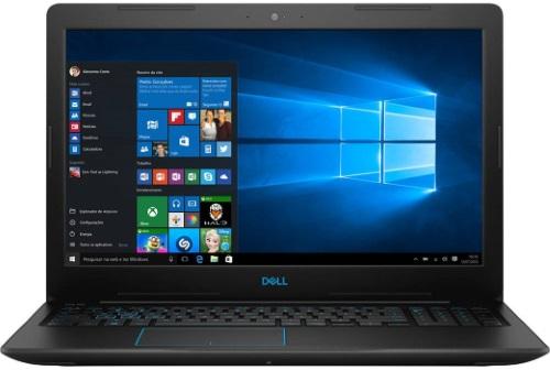 """Conheça o Notebook Dell Gamer G3 3579-A30P com processador Intel Core i7 (8750H) de 2.2 GHz a 4.1 GHz e 9MB cache, 16GB de memória RAM (DDR4 2666 MHz - expansível até 32GB), HD de 1 TB (5.400 RPM), Tela IPS Full HD de 15,6"""" Antirreflexo e resolução máxima de 1920 x 1080, Placa de Vídeo integrada Intel UHD Graphics 630 e NVIDIA Geforce GTX 1050Ti com 4GB de memória dedicada (GDDR5), Conexões USB e HDMI, Wi-Fi 802.11 b/g/n/ac (trabalha na frequencia 2.4 GHz e 5 GHz), Webcam (720p), Não possui Drive de DVD, Bateria de 4 células (56 Wh), Peso aproximado de 2,5kg e Windows 10 64 bits."""