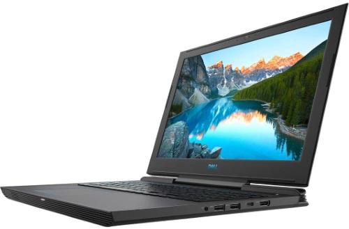 """Conheça o Notebook Dell Gamer G7 i15-7588-A40P com processador Intel Core i7 (8750H) de 2.2 GHz a 4.1 GHz e 9MB cache, 16GB de memória RAM (DDR4 2666 MHz - expansível até 32GB), HD de 1 TB (5.400 RPM) + SSD 256GB, Tela IPS Full HD de 15,6"""" Antirreflexo e resolução máxima de 1920 x 1080, Placa de Vídeo integrada Intel UHD Graphics 630 e NVIDIA Geforce GTX 1060 com 6GB de memória dedicada (GDDR5), Conexões USB e HDMI, Wi-Fi 802.11 b/g/n/ac (trabalha na frequencia 2.4 GHz e 5 GHz), Webcam (720p), Não possui Drive de DVD, Bateria de 4 células (56 Wh), Peso aproximado de 2,6kg e Windows 10 64 bits."""