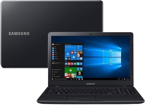 """Conheça o Notebook Samsung Expert X21 NP300E5M-KFWBR com processador Intel Core i5 (7200U) de 2.5 GHz a 3.1 GHz e 3 MB cache, 4GB de memória RAM (DDR4 2133MHz), HD de 1 TB (5.400 RPM), Tela LED FULL HD de 15,6"""" antirreflexiva com resolução máxima de 1920 X 1080, Placa de Vídeo integrada Intel HD Graphics 620, Conexões USB e HDMI, Wi-Fi 802.11 b/g/n/ac (Opera em 2.4 GHz e 5 GHz), Não possui Drive de DVD, Bateria de 3 células (43 Wh), Peso aproximado de 1,98kg e Windows 10."""
