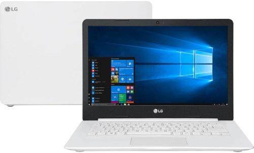 """Conheça o Notebook LG UltraSlim 14U380-L.BJ36P1 com processador Intel Celeron Quad Core (N4100) de 1.1 GHz a 2.4 GHz e 4MB cache, 4GB de memória RAM (DDR4 2400 MHz), HD de 500 GB (5.400 RPM), Tela LED HD de 14"""" com resolução máxima de 1366 x 768, Placa de Vídeo integrada Intel UHD Graphics 600, Conexões USB e HDMI, Webcam (720p) Wi-Fi 802.11 b/g/n, Não possui Drive de DVD, Bateria de 25 Wh, Peso aproximado de 1,45kg e Windows 10 64bits."""