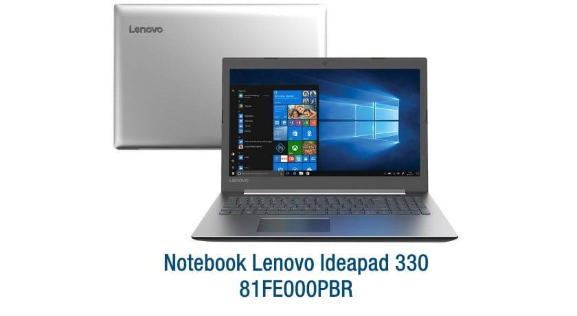 """Conheça o Notebook Lenovo Ideapad 330 81FE000PBR com processador Intel Core i7 (8550U) de 1.8 GHz a 4 GHz e 8MB cache, 8 GB de memória RAM (DDR4 2133 MHz- 4GB soldado + 4GB slot), HD de 2 TB (5.400 RPM), Tela LED Full HD de 15,6"""" antirreflexo e resolução máxima de 1920 x 1080, Placa de Vídeo integrada Intel UHD Graphics 620 e NVIDIA Geforce MX150 com 2GB de memória dedicada (GDDR5), Conexões USB e HDMI, Wi-Fi 802.11 b/g/n/ac, Webcam (720p), Não possui Drive de DVD, Bateria de 2 células (30Wh), Peso aproximado de 2,06kg e Windows 10 64 bits."""