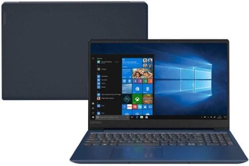 """Conheça o Notebook Lenovo Ideapad 330S 81JQ0000BR com processador AMD Ryzen 5 (2500U) de 2 GHz a 3.6 GHz e 4MB cache, 4GB de memória RAM (DDR4 24000 MHz - 4GB soldado), HD de 1 TB (5.400 RPM), Tela LED HD de 15,6"""" antirreflexiva com resolução máxima de 1366 x 768, Placa de Vídeo integrada Radeon Vega 8 Graphics, Conexões USB e HDMI, Webcam (720p), Wi-Fi 802.11 b/g/n/ac, Não possui Drive de DVD, Bateria de 2 células (30Wh), Peso aproximado de 1,87kg e Sistema Operacional Windows 10 64 bits."""