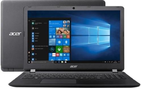 """Conheça o Notebook Acer Aspire E ES1-533-C8GL com processador Intel Celeron Dual Core (N3350) de 1.1 GHz a 2.4 GHz e 2 MB cache, 4GB de memória RAM (DDR3 1600MHz - expansível até 8 GB), HD de 500 GB (5.400 RPM), Tela LED HD de 15,6"""" com resolução máxima de 1366 X 768, Placa de Vídeo integrada Intel HD Graphics 500, Conexões USB e HDMI, Wi-Fi 802.11 b/g/n, Não possui Drive de DVD, Bateria de 2 células (37 Wh), Peso aproximado de 2,4kg e Sistema Operacional Windows 10."""