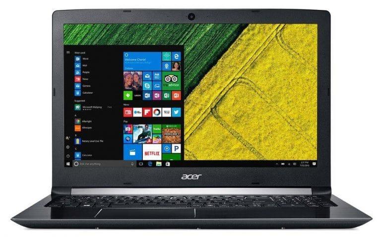 """Conheça o Notebook Acer Aspire A515-51-55QD NXGQBAL003 com processador Intel Core i5 (7200U) de 2.5 GHz a 3.1 GHz e 3 MB cache, 4GB de memória RAM (DDR4 2133 MHz - Expansível até 20GB), HD de 1 TB (5.400 RPM), Tela LED HD antirreflexo de 15,6"""" e resolução máxima de 1280 x 720, Placa de Vídeo integrada Intel HD Graphics 620, Conexões USB e HDMI, Wi-Fi 802.11 b/g/n/ac, Não possui Drive de DVD, Bateria de 4 células (3220 mAh), Peso aproximado de 2,2kg e Windows 10 64 bits."""