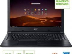 """O Notebook Acer Aspire 3 A315-33-C58D possui processador Intel Celeron Dual Core (N3060) de 1.6 GHz a 2.48 GHz e 2 MB cache, 4GB de memória RAM (DDR3 - expansível até 8GB sendo 1 slot total), HD de 500GB (5.400 RPM), Tela LED HD de 15,6"""" com resolução máxima de 1366 x 768 e tecnologia ComfyView que reduz o desconforto visual, Placa de Vídeo integrada Intel HD Graphics, Conexões USB e HDMI, Wi-Fi 802.11 b/g/n/ac, Não possui Drive de DVD, Bateria de 2 células (34 Wh - 4810 mAh), Peso aproximado de 2,1kg e Sistema Operacional Linux Endless."""