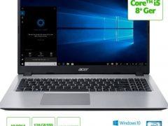 """O Notebook Acer Aspire 5 A515-52G-50NT possui processador Intel Core i5 (8265U) de 1.6 GHz a 3.9 GHz e 6MB cache, 8GB de memória RAM (DDR4 2400MHz - expansível até 32GB sendo 2 slots soDIMM), SSD de 128GB + HD de 1 TB (5.400 RPM), Tela LED HD de 15,6"""" e resolução máxima de 1366 x 768, Placa de Vídeo integrada Intel UHD Graphics 620 e NVIDIA Geforce MX130 com 2GB de memória dedicada (GDDR5), Conexões USB e HDMI, Wi-Fi 802.11 b/g/n/ac, Webcam (720p), Não possui Drive de DVD, Bateria de 3 células (48Wh), Slot M.2 2280 compatível com SSD SATA III até 512 GB (slot ocupado pelo SSD), Peso aproximado de 1,8kg e Windows 10 64 bits."""
