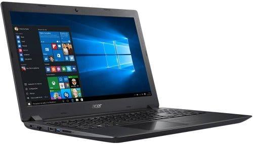 """O Notebook Acer Aspire A315-51-30V4 possui processador Intel Core i3 (8130U) de 2.2 GHz a 3.4 GHz e 4 MB cache, 4GB de memória RAM (DDR4 - expansível até 20GB), HD de 1 TB (5.400 RPM), Tela LED HD de 15,6"""" com resolução máxima de 1366 x 720, Placa de Vídeo integrada Intel UHD Graphics 620, Conexões USB e HDMI, Wi-Fi 802.11 b/g/n/ac, Não possui Drive de DVD, Bateria de 2 células(37Wh), Peso aproximado de 2,1kg e Sistema Operacional Windows 10 64 bits."""