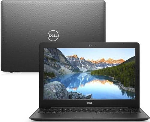 """O Notebook Dell Inspiron I15-3583-m3xp possui processador Intel Core i5 (8265U) de 1.6 GHz a 3.9 GHz e 6MB cache, 8GB de memória RAM (DDR4 2666MHz), HD de 1 TB (5.400 RPM), Tela LED HD de 15,6"""" antirreflexiva e resolução máxima de 1366 x 768, Placa de Vídeo integrada Intel UHD Graphics 620, Conexões USB e HDMI, Wi-Fi 802.11 b/g/n/ac, Webcam (720p), Não possui Drive de DVD, Bateria de 3 células (42Wh), Peso aproximado de 2,03kg e Windows 10 64 bits."""