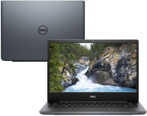 """O Notebook Dell Vostro V14-5481-m20c possui processador Intel Core i7 (8565U) de 1.8 GHz a 4.6 GHz e 8MB cache, 16GB de memória RAM (DDR4 2666Mhz mas com Velocidade máxima de 2400MHz devido ao barramento do processador), SSD de 256GB (M.2 SATA), Tela IPS Full HD de 14"""" antirreflexiva com resolução máxima de 1920 x 1080 e bordas finas, Placa de Vídeo integrada Intel UHD Graphics 620 e NVIDIA Geforce MX130 com 2GB de memória dedicada (GDDR5), Conexões USB e HDMI, Wi-Fi 802.11 b/g/n/ac, Webcam (720p), Não possui Drive de DVD, Bateria de 3 células (42Wh), Teclado retroiluminado alfanumérico e resistente a derramamento de líquidos, Peso aproximado de 1,55kg e Windows 10 64 bits."""