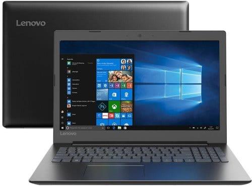 """O Notebook Lenovo Ideapad 330 81FE000UBR possui processador Intel Celeron Dual Core (3867U) de 1.8 GHz e 2 MB cache, 4GB de memória RAM (DDR4), HD de 500GB (5.400RPM), Tela LED HD de 15,6"""" antirreflexiva com resolução máxima de 1366 X 768, Placa de Vídeo integrada Intel HD Graphics 610, Conexões USB e HDMI, Wi-Fi 802.11 b/g/n/ac, Webcam (VGA) com microfone, Não possui Drive de DVD, Bateria de 2 celulas, Peso aproximado de 2kg e Sistema Operacional Windows 10 64 bits."""