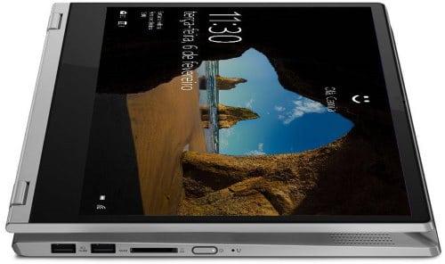 """O Notebook Lenovo Ideapad C340 81RL0003BR possui processador Intel Core i7 (8565U - 8ª Geração) de 1.8 GHz a 4.6 GHz e 8MB cache, 8GB de memória RAM (DDR4 2400 MHz - 4GB soldado + 4GB slot permitindo expansão até 20GB), SSD 256GB PCIe NVMe, Tela IPS Full HD de 14"""" Multitouch com resolução máxima de 1920 x 1080, Placa de Vídeo integrada Intel UHD Graphics 620, Conexões USB e HDMI, Wi-Fi 802.11 b/g/n/ac, Não possui Drive de DVD, Bateria de 4 células(45Wh), Peso aproximado de 1,65kg e Sistema Operacional Windows 10 64 bits."""