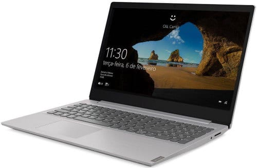 """O Notebook Lenovo Ideapad S145 81S90008BR possui processador Intel Core i5 (8265U) de 1.6 GHz a 3.9 GHz e 6MB cache, 8GB de memória RAM (DDR4 2400 - 4GB soldado + 4GB slot), HD de 1 TB (5.400 RPM), Tela LED HD de 15,6"""" antirreflexiva e resolução máxima de 1366 x 768, Placa de Vídeo integrada Intel UHD Graphics 620 e NVIDIA Geforce MX110 com 2GB de memória dedicada (GDDR5), Conexões USB e HDMI, Wi-Fi 802.11 b/g/n/ac, Webcam (0.3 MP), Não possui Drive de DVD, Bateria de 2 células (35Wh), Peso aproximado de 1,85kg e Windows 10 64 bits."""