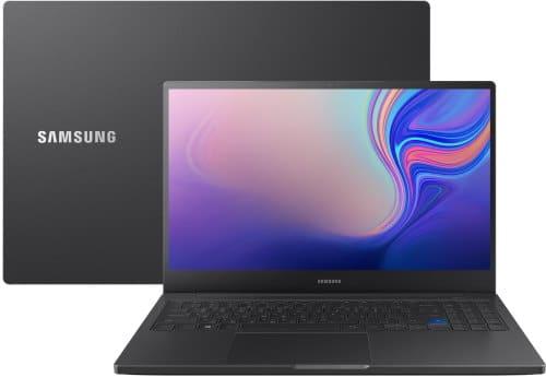 """O Notebook Samsung Style S51 Pro NP760XBE-XW1BR possui processador Intel Core i7 (8565U - 8ª Geração) de 1.8 GHz a 4.6 GHz e 8MB cache, 16GB de memória RAM (DDR4 2400 MHz - Máximo de expansão até 16GB), SSD 256GB, Tela LED Full HD de 15,6"""" antirreflexiva com resolução máxima de 1920 x 1080, Placa de Vídeo integrada Intel UHD Graphics 620 + NVIDIA Geforce GTX 1650 com 4GB de memória dedicada (GDDR5), Conexões USB e HDMI, Wi-Fi 802.11 b/g/n/ac, Não possui Drive de DVD, Bateria de 3 células(43Wh), Peso aproximado de 1,85kg e Sistema Operacional Windows 10 64 bits."""