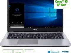 """O Notebook Acer Aspire 5 A515-52G-57NL NX.HD9AL.002 possui processador Intel Core i5 (8265U) de 1.6 GHz a 3.9 GHz e 6MB cache, 16GB de memória RAM (DDR4 2400MHz - expansível até 32GB sendo 2 slots soDIMM), HD de 1 TB (5.400 RPM), Tela LED HD de 15,6"""" e resolução máxima de 1366 x 768, Placa de Vídeo integrada Intel UHD Graphics 620 e NVIDIA Geforce MX130 com 2GB de memória dedicada (GDDR5), Conexões USB e HDMI, Wi-Fi 802.11 b/g/n/ac, Webcam (720p), Não possui Drive de DVD, Bateria de 4 células (48Wh - 3220 mAh), Slot M.2 2280 compatível com SSD SATA III até 512 GB, Peso aproximado de 1,8kg e Windows 10 64 bits."""