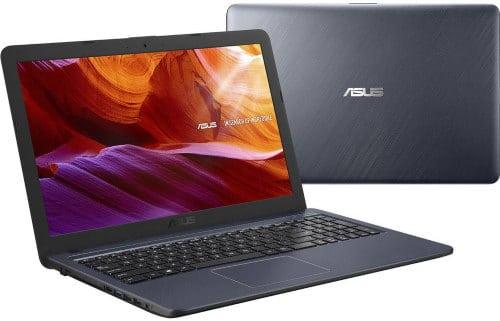 """O Notebook Asus X543MA-GO594T com processador Intel Celeron Dual Core (N4000) de 1.1 GHz a 2.6 GHz e 4 MB cache, 4GB de memória RAM (LPDDR4 2133 MHz - 4 GB Onboard + 0 GB Offboard), HD de 500GB, Tela LED HD de 15,6"""" antirreflexiva com resolução máxima de 1366 X 768, Placa de Vídeo integrada Intel UHD Graphics 600, Conexões USB e HDMI, Wi-Fi 802.11 b/g/n/ac, Webcam (VGA) com microfone, possui Drive de DVD, Bateria de 3 células (2200 mAh - 33 Wh), Peso aproximado de 2kg e Sistema Operacional Windows 10 64 bits."""