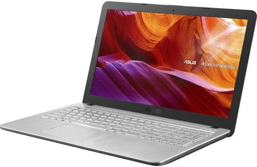 """O Notebook Asus X543MA-GO595T com processador Intel Celeron Dual Core (N4000) de 1.1 GHz a 2.6 GHz e 4 MB cache, 4GB de memória RAM (LPDDR4 2133 MHz - 4 GB Onboard + 0 GB Offboard), HD de 500GB, Tela LED HD de 15,6"""" antirreflexiva com resolução máxima de 1366 X 768, Placa de Vídeo integrada Intel UHD Graphics 600, Conexões USB e HDMI, Wi-Fi 802.11 b/g/n/ac, Webcam (VGA) com microfone, possui Drive de DVD, Bateria de 3 células (2200 mAh - 33 Wh), Peso aproximado de 2kg e Sistema Operacional Windows 10 64 bits."""