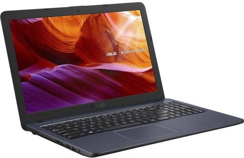 """O Notebook Asus X543MA-GO596T com processador Intel Celeron Dual Core (N4000) de 1.1 GHz a 2.6 GHz e 4 MB cache, 4GB de memória RAM (LPDDR4 2133 MHz - 4 GB Onboard + 0 GB Offboard), HD de 500GB, Tela LED HD de 15,6"""" antirreflexiva com resolução máxima de 1366 X 768, Placa de Vídeo integrada Intel UHD Graphics 600, Conexões USB e HDMI, Wi-Fi 802.11 b/g/n/ac, Webcam (VGA) com microfone, possui Drive de DVD, Bateria de 3 células (2200 mAh - 33 Wh), Peso aproximado de 2kg e Sistema Operacional Windows 10 64 bits."""