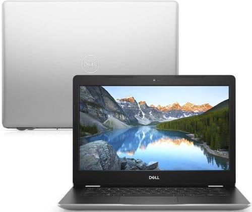 """O Notebook Dell Inspiron i14-3480-M30S possui processador Intel Core i5 (8265U) de 1.6 GHz a 3.9 GHz e 6MB cache, 8GB de memória RAM (DDR4 2666MHz - Velocidade máxima de 2400MHz devido ao barramento do processador), HD de 1 TB (5.400 RPM), Tela LED HD de 14"""" antirreflexiva e resolução máxima de 1366 x 768, Placa de Vídeo integrada Intel UHD Graphics 620, Conexões USB e HDMI, Wi-Fi 802.11 b/g/n/ac, Webcam (720p), Não possui Drive de DVD, Bateria de 3 células (42Wh), Peso aproximado de 1,67kg e Windows 10 64 bits."""