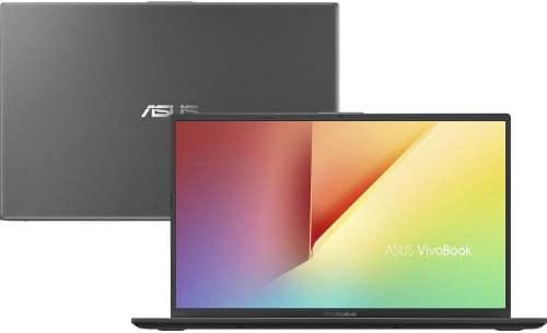 """O Notebook Asus VivoBook 15 X512FA-BR566T possui processador Intel Core i5 (8265U) de 1.6 GHz a 3.9 GHz e 6MB cache, 4GB de memória RAM (DDR4 2400 MHz- 0 GB Onboard + 4 GB Offboard sendo expansível ate 16GB), HD de 1 TB (5.400 RPM), Tela LED HD de 15,6"""" antirreflexiva e resolução máxima de 1366 x 768, Placa de Vídeo integrada Intel UHD Graphics 620, Conexões USB e HDMI, Wi-Fi 802.11 b/g/n/ac, Webcam (VGA), Não possui Drive de DVD, Bateria de 2 células (32 Wh - 3300 mAh), Peso aproximado de 1,75kg e Windows 10 64 bits."""