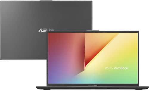 """O Notebook Asus VivoBook 15 X512FA-BR568T possui processador Intel Core i5 (8265U) de 1.6 GHz a 3.9 GHz e 6MB cache, 8GB de memória RAM (DDR4 2400 MHz- 0 GB Onboard + 8 GB Offboard sendo expansível ate 16GB), HD de 1 TB (5.400 RPM), Tela LED HD de 15,6"""" antirreflexiva e resolução máxima de 1366 x 768, Placa de Vídeo integrada Intel UHD Graphics 620, Conexões USB e HDMI, Wi-Fi 802.11 b/g/n/ac, Webcam (VGA), Não possui Drive de DVD, Bateria de 2 células (32 Wh - 3300 mAh), Peso aproximado de 1,75kg e Windows 10 64 bits."""