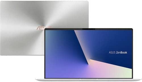 """O Notebook Asus Zenbook UX433FA-A6342T possui processador Intel Core i7 (8565U) de 1.8 GHz a 4.6 GHz e 8MB cache, 8GB de memória RAM (DDR4 2133 MHz- 8 GB Onboard + 0 GB Offboard sendo expansível ate 16GB), SSD de 256 (PCI-e SSD G3 X2), Tela LED Full HD de 14"""" NanoEdge e resolução máxima de 1920 x 1080, Placa de Vídeo integrada Intel UHD Graphics 620, Conexões USB e HDMI, Wi-Fi 802.11 b/g/n/ac, Webcam (HD), Não possui Drive de DVD, Bateria de 3 células (50 Wh - 4480 mAh), Peso aproximado de 1,19kg e Windows 10 64 bits."""