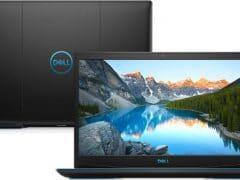 """O Notebook Dell Gaming G3-3590-A10P possui processador Intel Core i5 (9300H 9ª Geração) de 2.4 GHz a 4.1 GHz e 8MB cache, 8GB de memória RAM (DDR4 2666 MHz - 2 X 4GB), HD de 1 TB (5.400 RPM), Tela IPS Full HD de 15,6"""" com antirreflexiva com borda fina e resolução máxima de 1920 x 1080, Placa de Vídeo integrada Intel UHD Graphics 630 e NVIDIA Geforce GTX 1050 com 3GB de memória dedicada (GDDR5), Conexões USB e HDMI, Wi-Fi 802.11 b/g/n/ac, Webcam (720p), Não possui Drive de DVD, Bateria integrada de 3 células (51 Wh), Teclado retroiluminado na cor azul no padrão padrão US Internacional com marcações no WASD e resistente a respingos, Peso aproximado de 2,34kg e Windows 10 64 bits."""