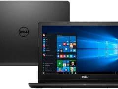 """O Notebook Dell Inspiron I15-3567-A50P possui processador Intel Core i7 (7500U) de 2.7 GHz a 3.5 GHz e 4 MB cache, 8GB de memória RAM (DDR4 2400 MHz com velocidade máxima de 2133MHz devido ao barramento do processador - Expansível até 16GB), HD de 2 TB (5.400 RPM), Tela LED HD antirreflexo de 15,6"""" com resolução máxima de 1366 X 768, Placa de Vídeo integrada Intel HD Graphics 620, Conexões USB e HDMI, Wi-Fi 802.11 b/g/n, Não possui Drive de DVD, Bateria de 4 células (40WHr), Peso aproximado de 1,9kg e Windows 10."""