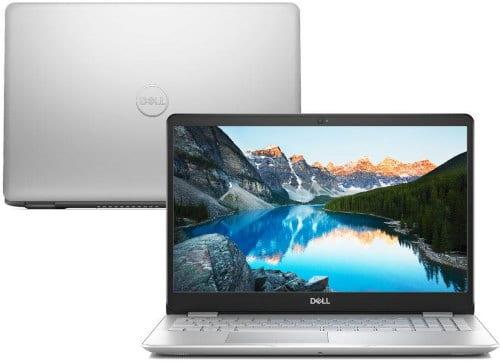 """O Notebook Dell Inspiron i15-5584-M20S possui processador Intel Core i5 (8265U) de 1.6 GHz a 3.9 GHz e 6MB cache, 8GB de memória RAM (DDR4 2666MHz mas com velocidade máxima de 2400MHz devido ao barramento do processador), HD de 1 TB (5.400 RPM), Tela LED HD de 15,6"""" e resolução máxima de 1366 x 768, Placa de Vídeo integrada Intel UHD Graphics 620 e NVIDIA Geforce MX130 com 2GB de memória dedicada (GDDR5), Conexões USB e HDMI, Wi-Fi 802.11 b/g/n/ac, Webcam (720p), Não possui Drive de DVD, Bateria de 3 células (42Wh), Peso aproximado de 1,95kg e Windows 10 64 bits."""