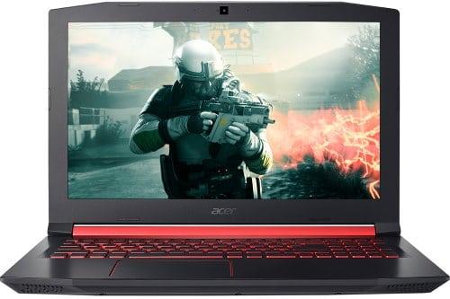"""O Notebook Gamer Acer Aspire Nitro 5 AN515-51-78D6 NH.Q32AL.002 possui processador Intel Core i7 (7700HQ) de 2.8 GHz a 3.8 GHz e 6 MB cache Quad Core, 16GB de memória RAM (DDR4 SDRAM - expansível até 32 GB  de até 2666MHz), 1 TB (5.400 RPM) e possui slot de expansão M.2 2280, Tela IPS FULL HD de 15,6"""" antirreflexiva e com resolução máxima de 1920 x 1080, Placa de Vídeo integrada Intel HD Graphics 630 e NVIDIA Geforce GTX 1050Ti com 4GB de memória dedicada (GDDR5), Conexões USB e HDMI, Wi-Fi 802.11 b/g/n/ac, Webcam HD, não possui Drive de DVD, Bateria de 4 células (48Wh - 3220 mAh), Teclado Retroiluminado em luz vermelha padrão ABNT com destaque nas teclas W, A, S, D e teclado numérico dedicado, Peso aproximado de 2,7kg e Windows 10 de 64 bits."""