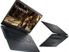"""O Notebook Gamer Dell G3-3590-M10P possui processador Intel Core i5 (9300H 9ª Geração) de 2.4 GHz a 4.1 GHz e 8MB cache, 8GB de memória RAM (DDR4 2666 MHz - 2 X 4GB), HD de 1 TB (5.400 RPM), Tela IPS Full HD de 15,6"""" com antirreflexiva com borda fina e resolução máxima de 1920 x 1080, Placa de Vídeo integrada Intel UHD Graphics 630 e NVIDIA Geforce GTX 1050 com 3GB de memória dedicada (GDDR5), Conexões USB e HDMI, Wi-Fi 802.11 b/g/n/ac, Webcam (720p), Não possui Drive de DVD, Bateria integrada de 3 células (51 Wh), Teclado retroiluminado na cor azul no padrão padrão US Internacional com marcações no WASD e resistente a respingos, Peso aproximado de 2,34kg e Windows 10 64 bits."""