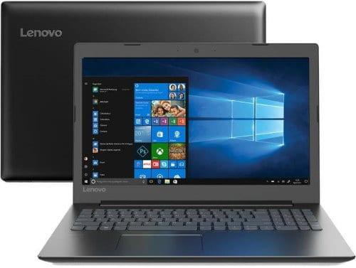 """O Notebook Lenovo B330 81M10005BR possui processador Intel Core i5 (8250U) de 1.6 GHz a 3.4 GHz e 6MB cache, 4GB de memória RAM (DDR4 2133 MHz - 4GB soldada + 4GB e expansível até 12GB), HD de 1 TB (5.400 RPM), Tela LED Full HD de 15,6"""" atinrreflexiva e resolução máxima de 1920 x 1080, Placa de Vídeo integrada Intel UHD Graphics 620, Conexões USB e HDMI, Wi-Fi 802.11 b/g/n/ac, Webcam (HD 720p), Não possui Drive de DVD, Bateria de 2 células (30Wh), Peso aproximado de 2,2kg e Windows 10 64 bits."""